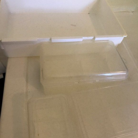 11 Piece Lot of Mixed Size Craft Containers